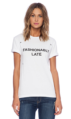ANNA K Fashion Circus Fashionably Late T-Shirt in White