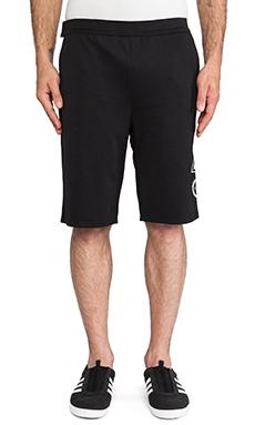 adidas Originals by Opening Ceremony Taekwondo Belt Short in SLVR Black