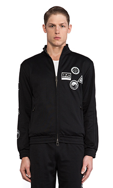 adidas Originals by Opening Ceremony Taekwondo Belt Track Top in SLVR Black