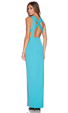 AQ/AQ Chromide Maxi Dress in Jewel Blue