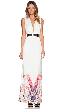 AQ/AQ Snap Maxi Dress in Fragment Cream