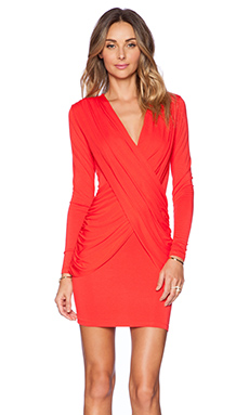 AQ/AQ Rohan Mini Dress in Orange Red