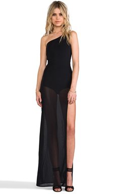 AQ/AQ Viva Maxi Dress in Black