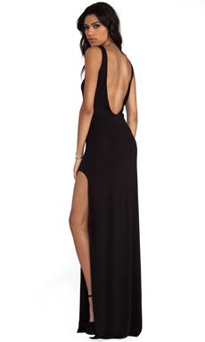 AQ/AQ Clutch Maxi Dress in Black