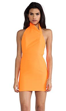 AQ/AQ Hannah Mini Dress in Acid Orange