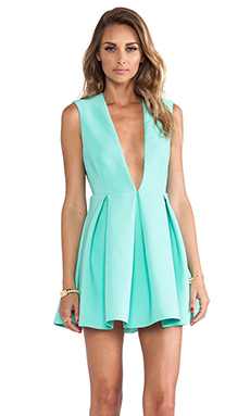AQ/AQ Upper Mini Dress in Bermuda