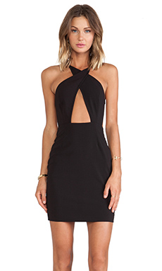 AQ/AQ Kelly Mini Dress in Black