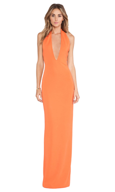 AQ/AQ Mega Maxi Dress in Mandarin Red
