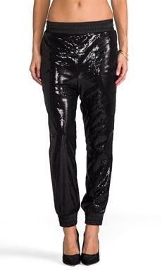 AQ/AQ Glint Sequin Joggers in Black