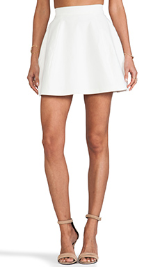 AQ/AQ Shade Mini Skirt in Cream