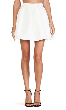AQ/AQ Darcy Mini Skirt in Cream