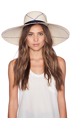 Artesano Playa Hat in Natural Blue Lotus