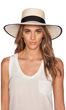 Artesano Polo Hat in Natural & Black