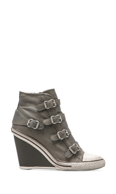 Ash Thelma Wedge Sneaker in Stone