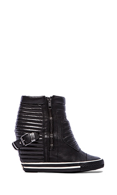 Ash Ulk Sneaker Wedge in Black & Antic Gun