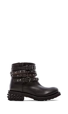 Ash Tatum Bis Boot in Black & Antic Silver