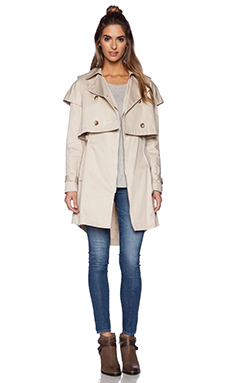 ashley B Textured Cotton Jacket en Taupe