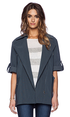 ashley B Mesh Jacket en Bleu canard
