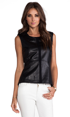 ashley B Leather Tank Combo in Black