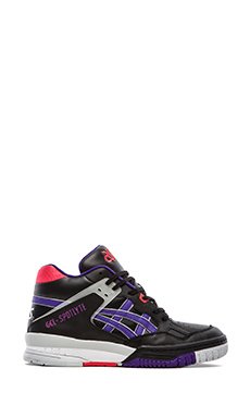 Asics Re-Issue Gel Spotlyte in Black &  Purple