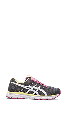 Asics Gel-Zaraca 2 in Dark Charcoal & Neon Pink