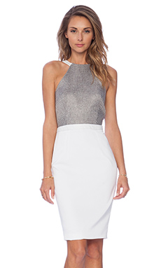 ASILIO Buried Secrets Dress in Grey & White