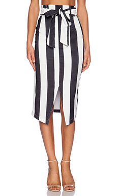 ASILIO Bad Romance Skirt in Black & White