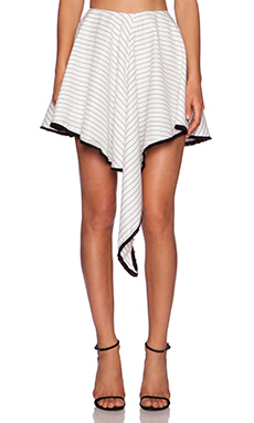 ASILIO Army Of Angels Skirt in White & Black Stripes
