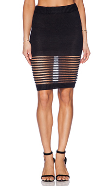 ASILIO Between The Lines Skirt in Black