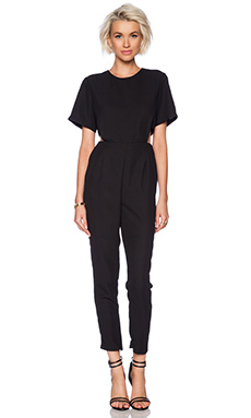 ASILIO Blank Canvas Jumpsuit in Black