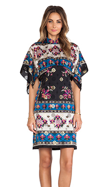 Anna Sui Babushka Print Tank Dress in King Fisher Multi