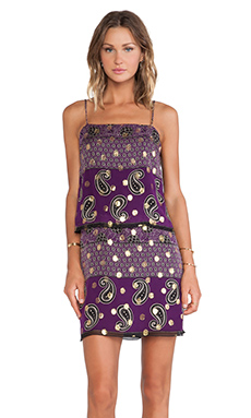 Anna Sui Paisley Print Tank Dress in Aster Multi