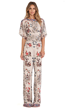 Anna Sui Prince of Pagodas Print Jumpsuit in Antique Multi