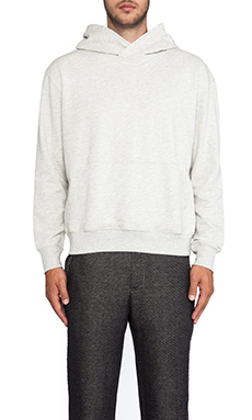 ATM Anthony Thomas Melillo French Terry Pop Over Hoodie in Grey
