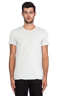 ATM Anthony Thomas Melillo Spotted Jersey Tee in Light Heather Grey
