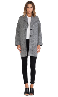 ATM Anthony Thomas Melillo Fleece Over Coat in Heathered Grey