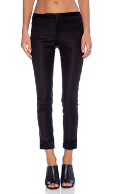 ATM Anthony Thomas Melillo Satin Back Knit Pant in Black