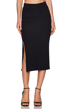 ATM Anthony Thomas Melillo Side Slit Tube Skirt in Black