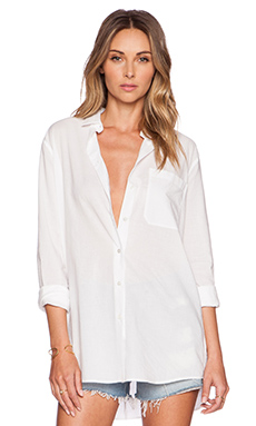 ATM Anthony Thomas Melillo Boyfriend Oversized Dress Shirt in White