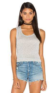 ATM Anthony Thomas Melillo Sweetheart Tank Top in Heather Grey