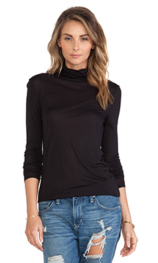 ATM Anthony Thomas Melillo Turtle Neck Crew in Black