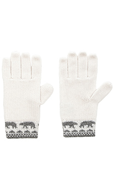 Autumn Cashmere Fairilse Gloves in Nickle & Vanilla