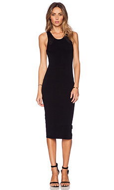 Autumn Cashmere Zip Back Dress in Black
