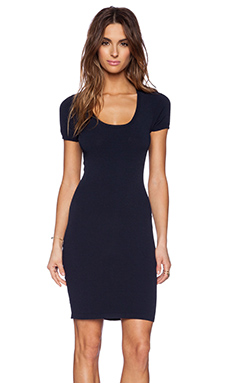 Autumn Cashmere Bodycon Dress in Navy