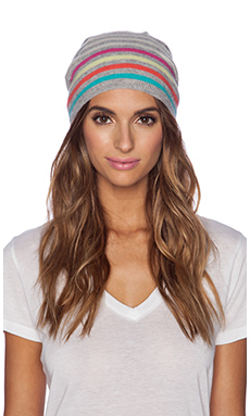 Autumn Cashmere Stripe Beanie in Multi
