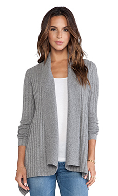 Autumn Cashmere New Rib Drape Sweater in Cement