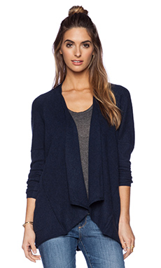Autumn Cashmere Drape Cardigan in Navy