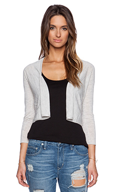 Autumn Cashmere Easy Crop Cardigan in Dew