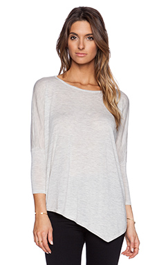 Autumn Cashmere Asymmetric Crew Sweater in Dew