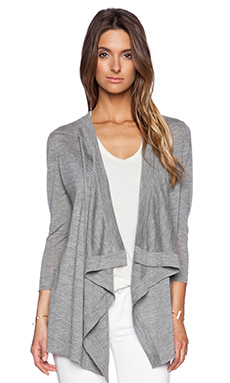 Autumn Cashmere Waterfall Cardigan in Rock